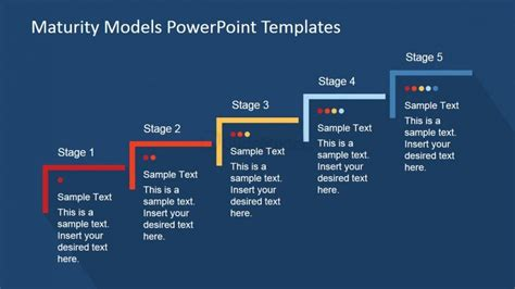 Five Step Maturity Model For Business Powerpoint Template Powerpoint Models Free