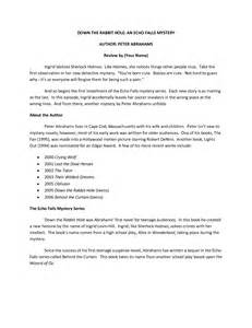 Review Template For Middle School by Best Photos Of High School Book Report Printable High