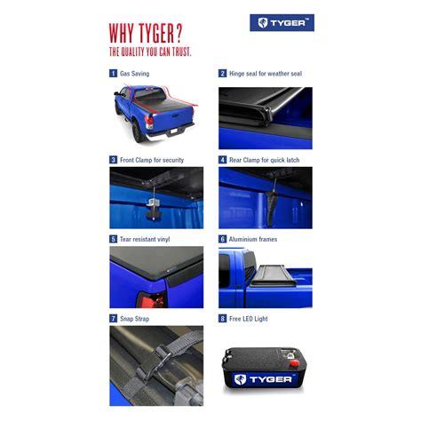 Tyger Tri Fold Tonneau Cover by Tyger 174 Tg Bc3n1028 Tri Fold Soft Tonneau Cover