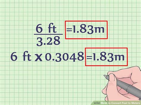 meters to feet how to convert feet to meters with unit converter wikihow