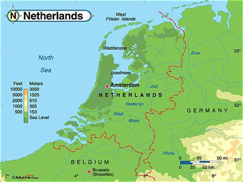 netherlands geography map image gallery netherlands landforms