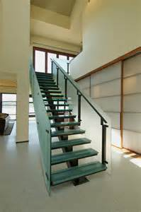Glass Stair by Seattle Glass Block Structural Glass Stair With Glass Railing
