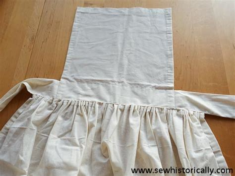 free sewing pattern victorian apron victorian cotton pinner apron sew historically