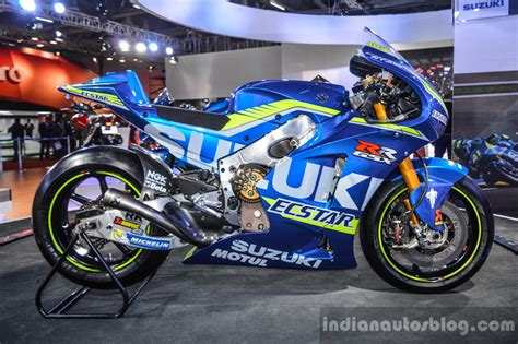 Ktm At Auto Expo 2016 by 2016 Suzuki Gsx Rr Motogp Bike Side At Auto Expo 2016