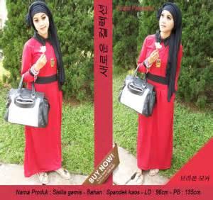 Miss Renita Maxi Luaran Assymetris Pashmina Tali Pinggang baju muslimah update december siput store