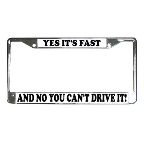 Yes Its Fast No You Cant Drive It Kaos Anime yes its fast and no you can t drive it license plate frame vehicle heavy duty metal 13310016