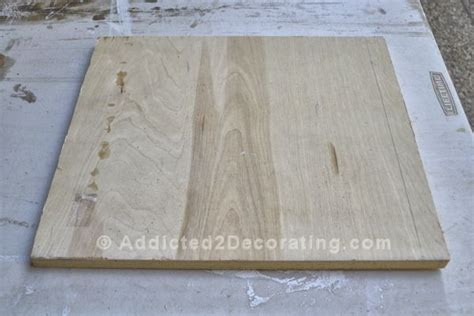 How To Make A Herringbone Serving Tray With Iron On Wood
