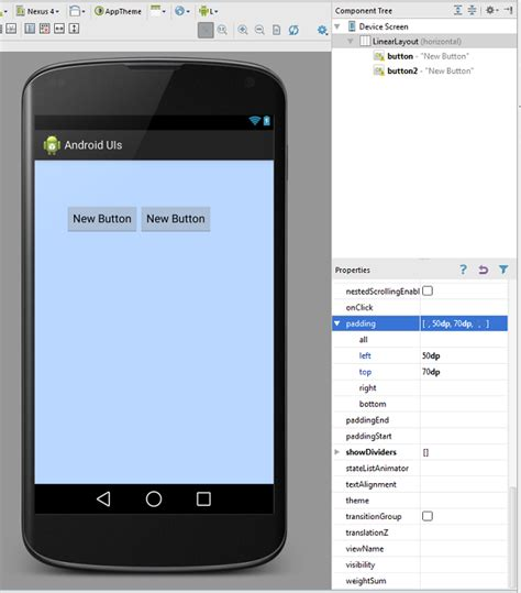 android linearlayout gravity margin padding itebooks android ui layouts and controls codeproject
