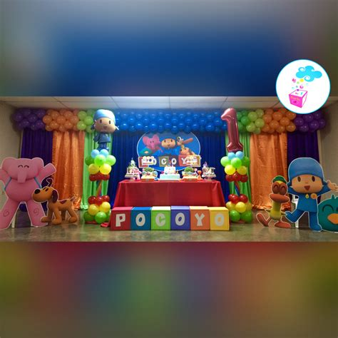 decoracion fiesta pocoyo pocoyo birthday theme showerbox events www myshowerbox