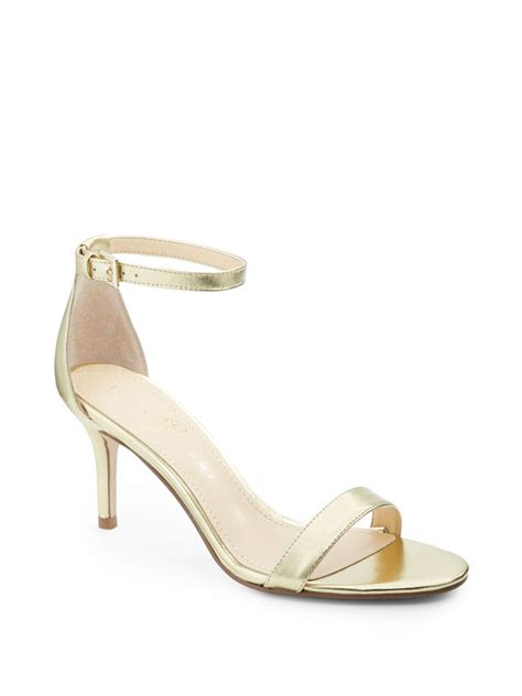 metallic gold sandals ivanka vilma metallic leather ankle sandals in