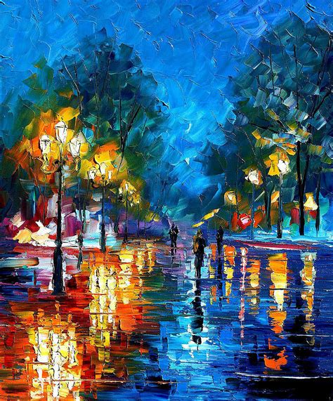art 5 176 constituci 211 night park 2 palette knife oil painting on canvas by