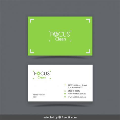 Visit Card Template Ai by Green Visit Card Template Vector Free