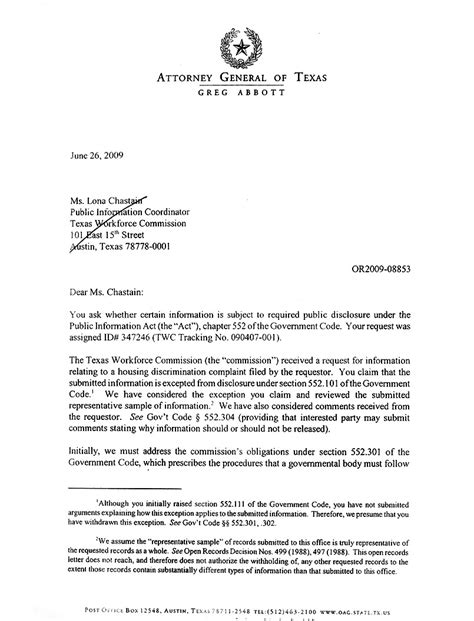 Response Letter To Attorney General Letter From Attorney General Of