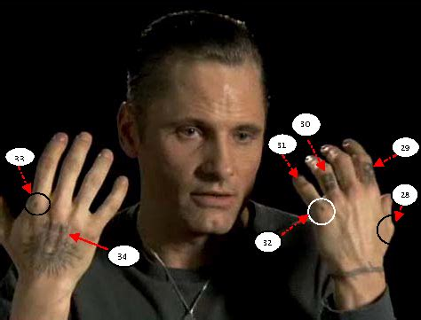 eastern promises tattoos eastern promises actor shows finger tattoomagz