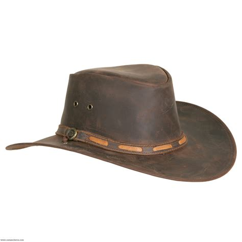 leather classic shaped hat