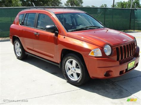 orange jeep compass 2008 sunburst orange pearl jeep compass sport 32054326