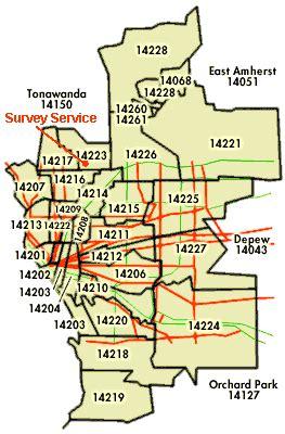 buffalo ny zip code map survey service