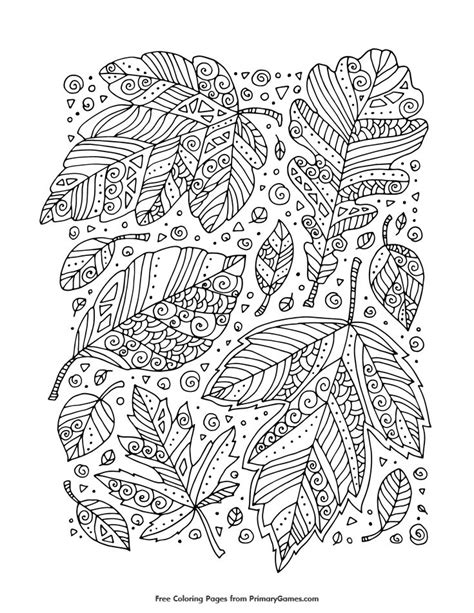 coloring pages for adults leaves 339 best coloring pages autumn images on pinterest