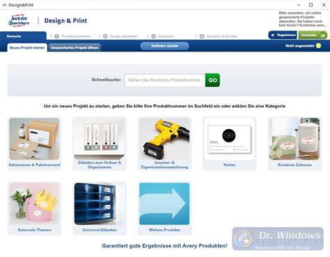Avery Design Pro Vorlagen Erstellen avery zweckform design druck software