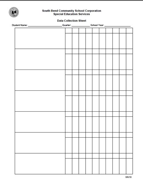 Iep Forms Iep Goal Data Collection Template