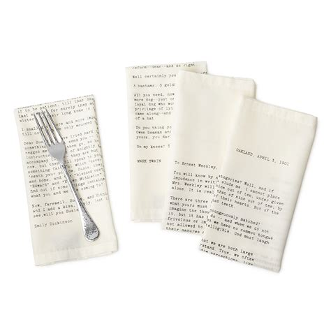letter napkins set of 4 luxury table linens uncommongoods