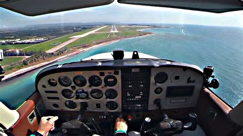 cessna c172 approach and landing into paphos cyprus