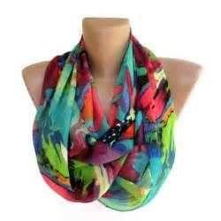 Summer Infinity Scarf Neon Infinity Scarf Scarves Summer Fashion