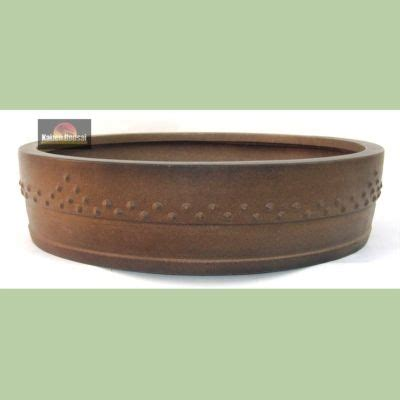 Oval Decorated Hollow Out Design Rock Chic Blue 73 best images about bonsai pot on