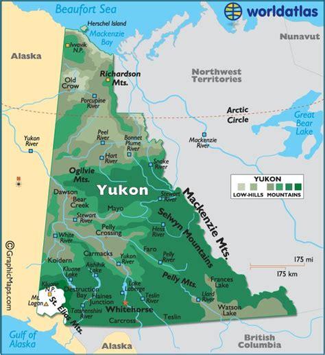 yukon map canada yukon canada maps flags