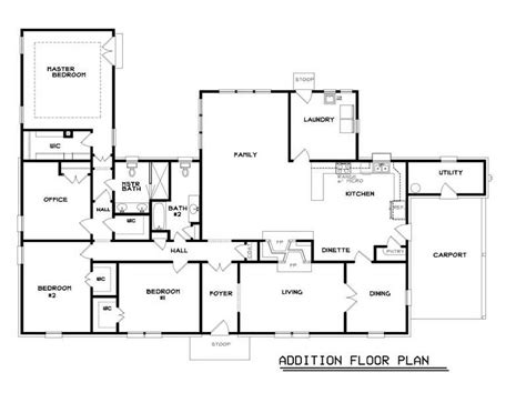 Miscellaneous Ranch Home Floor Plans Popular Floor Plans House Addition Blueprints Free
