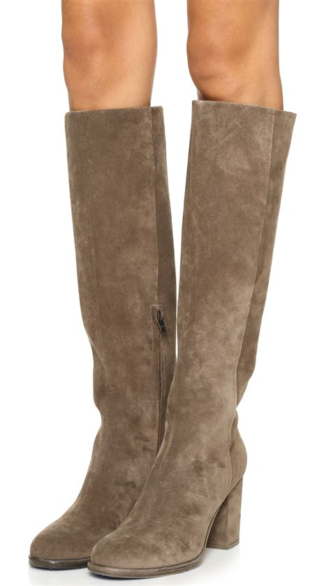 trending fashion with suede boots bingefashion