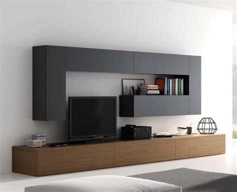 mueble de salon negro  madera oscura zb muebles