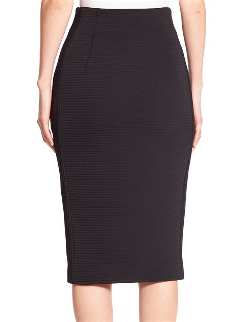 kempner dree tech ribbed stretch knit pencil skirt in