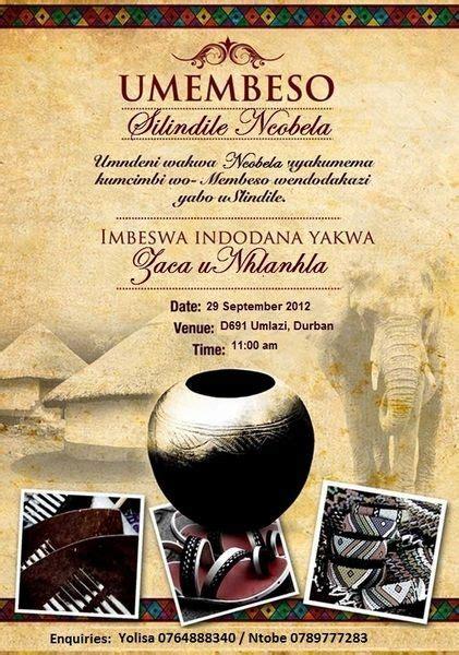 Zulu Wedding Invitation Card by Umembeso Wedding Invite Search Wedding Gown