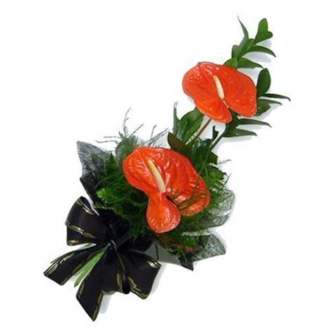 how long do flowers last long lasting red tropical anthuria flower bouquet 205 h 250 si