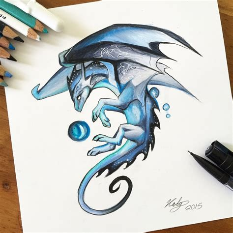 190 blue mystic dragon by lucky978 on deviantart