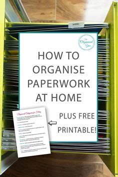 how to organise your home home filing system on pinterest filing system file
