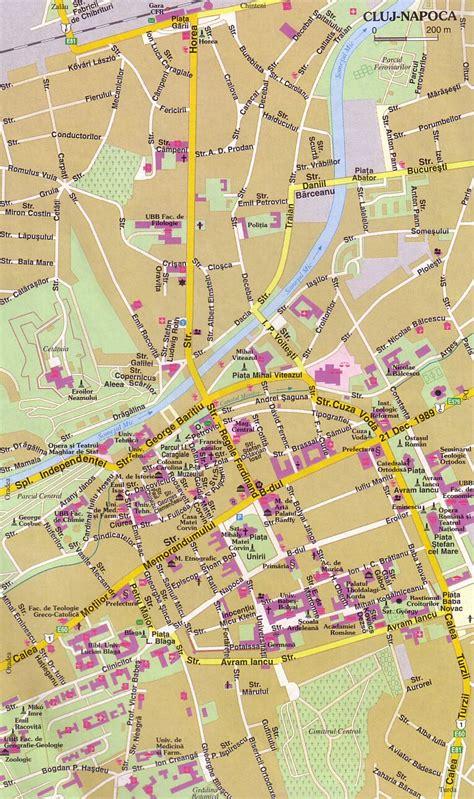 cluj napoca romania map cluj napoca tourist map cluj napoca romania mappery