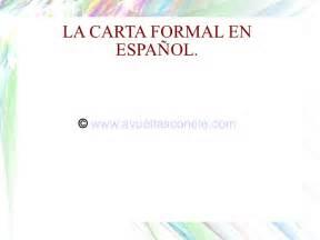 la carta formal e informal ppt la carta formal