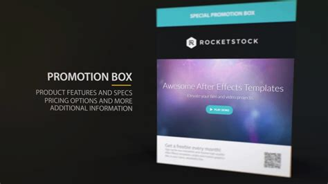 after effects title card template compact product promo after effects template