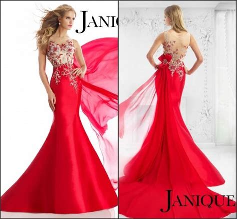 Supplier Baju Ivory Dress N2 new style 2015 evening dresses janique pageant sheer