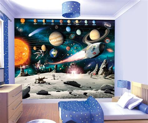 space themed wall murals space wall murals 2017 grasscloth wallpaper