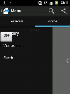 layoutinflater in drawer android navigation drawer overlaps over actionbar