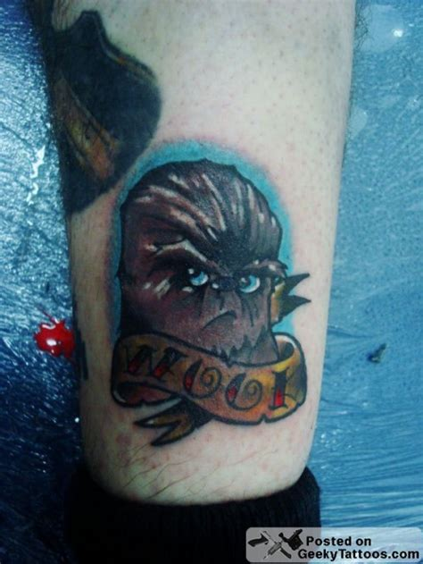 chewbacca tattoo chewbacca geeky tattoos