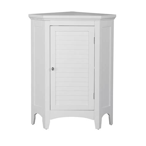 White Bathroom Floor Storage Cabinet Home Fashions Simon 24 3 4 In W X 17 In D X 32 In H Corner Bathroom Linen Storage