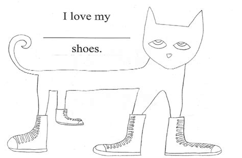 pete the cat coloring page shoes pete the cat kindergarten nana