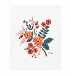 Floral Wall Sticker coral botanical print by rifle paper co thetipi