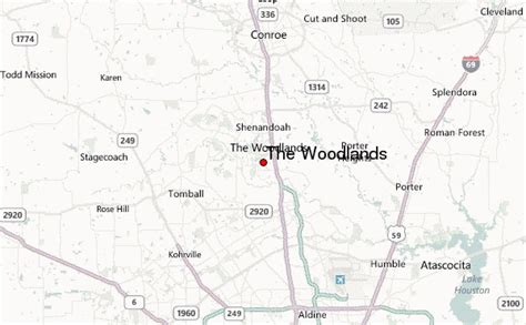 woodland texas map the woodlands location guide