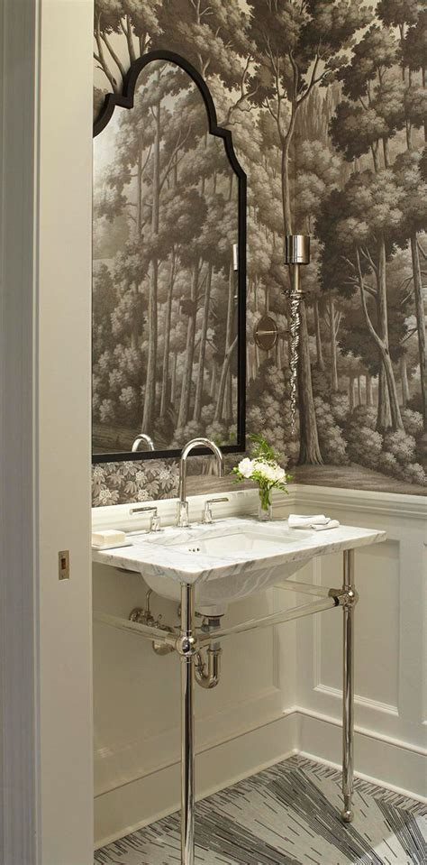 powder room wallpaper create a smashing powder room traditional home