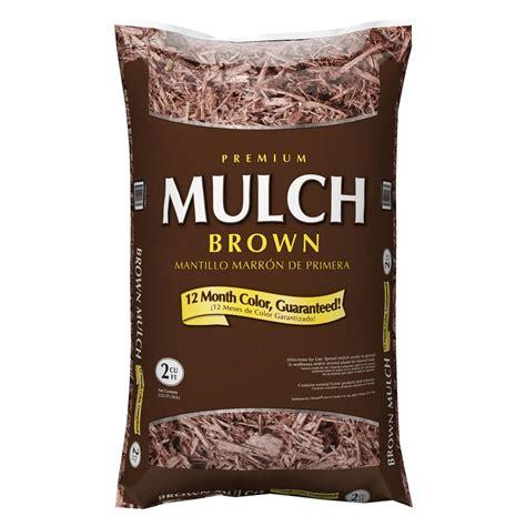 Lowes Or Home Depot Mulch Premium 2 Cu Ft Brown Hardwood Mulch 2 00 Lowe S W